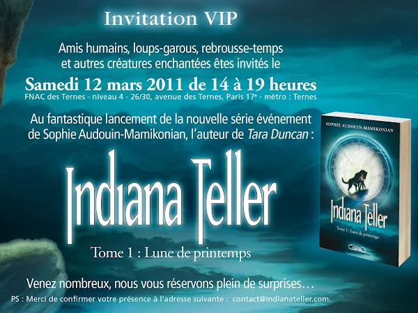 Lancement d'Indiana Teller à la FNAC des Ternes le 12 mars 2011