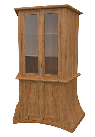 Adagio Corner Cabinet in Classical Maple