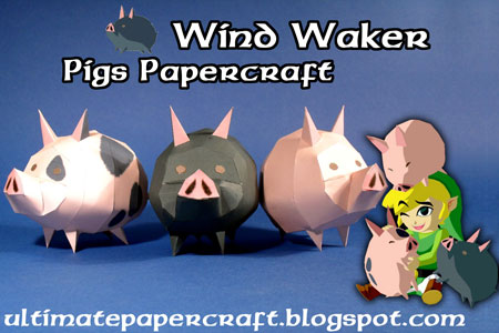 The Wind Waker Pig Papercraft