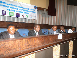 Ouvertures du processus de la réduction des émissions causées par la déforestation et la dégradation des forets « Redo+ » en RDC par des membres du gouvernement central le 01/09/2014 à Kinshasa. Radio Okapi/Ph. John Bompengo