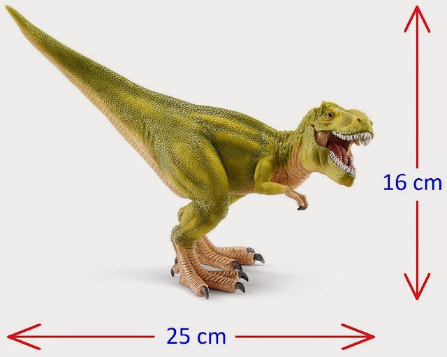 Mô hình Khủng long Bạo chúa Tyrannosaurus Rex (xanh nhạt) khoảng: 25 x 16 x 9 cm