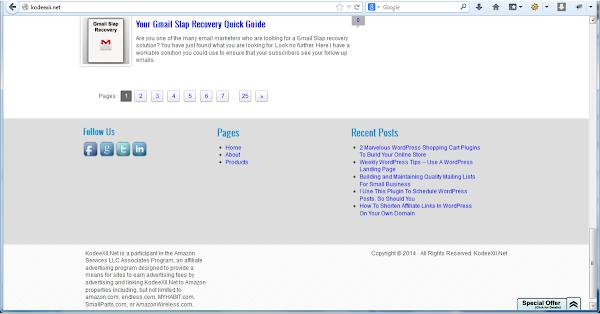 WordPress Footer Widget Area On a Website