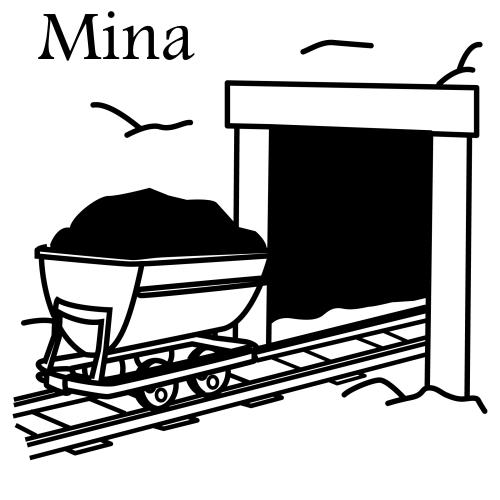 Bergwerk. Malvorlagen