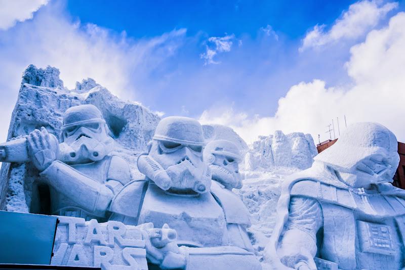 さっぽろ雪まつり 雪のスター・ウォーズ 写真1