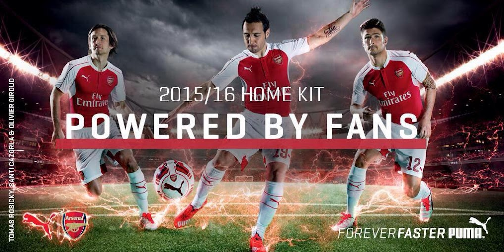 New Puma Arsenal 2015-16 home kit has been released today 15th June 2015 at  around 09 30 uk time and here are the official pictures of the home kit  release ... c3a1a4270