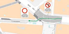 Nuevas señales '...excepto bus y bicicletas' en Gran Vía