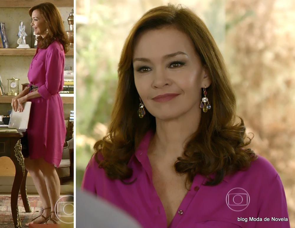 moda da novela Em Família - Helena da Alice dia 26 de maio