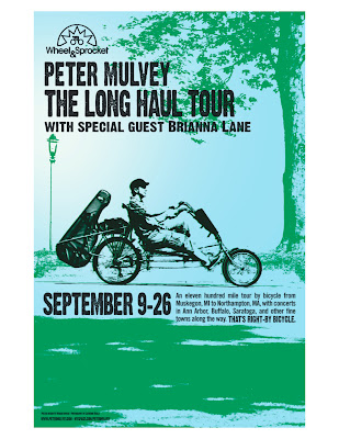 Peter Mulvey bike tour poster