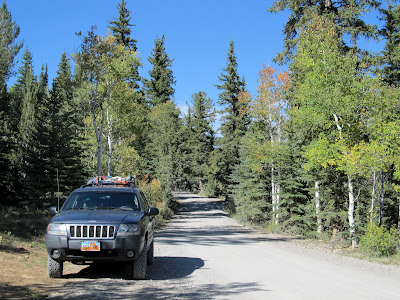The jeep along Miller Flat Road