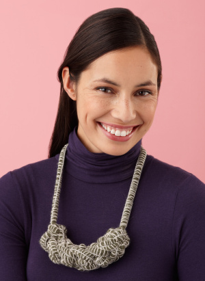 Crochet necklace using our unique Mambo yarn! http://marthastewart.lionbrand.com/patterns/L10099.html
