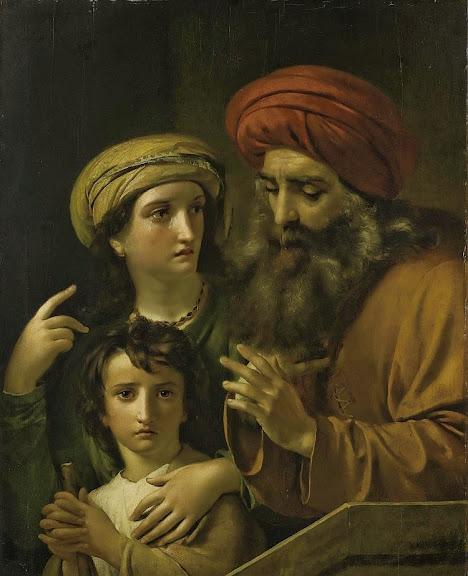 François-Joseph Navez - Agar et Ismaël chassés par Abraham