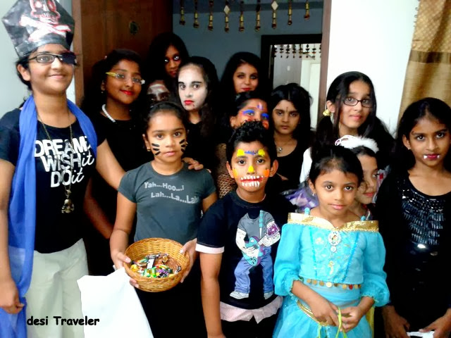 Trick or Treet Kids dressed for Halloween India