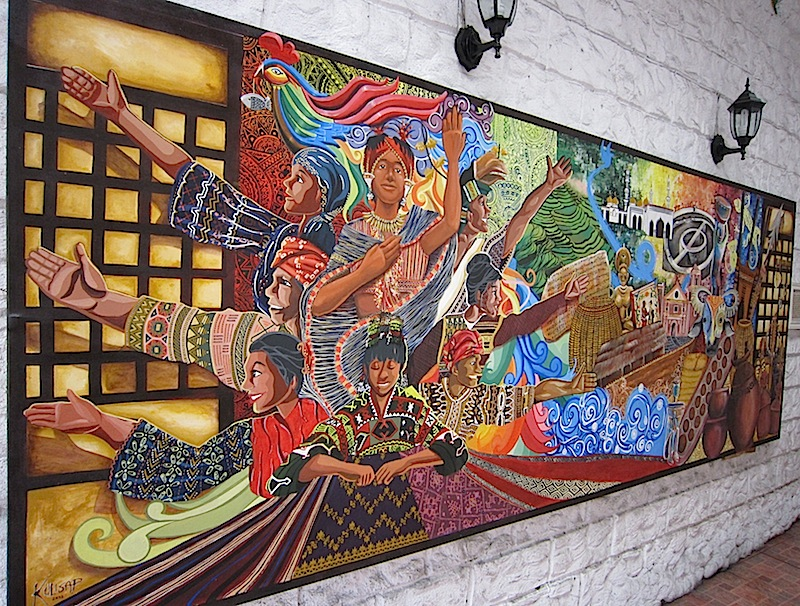 mural at the entrance of The Manila Collectible Co.