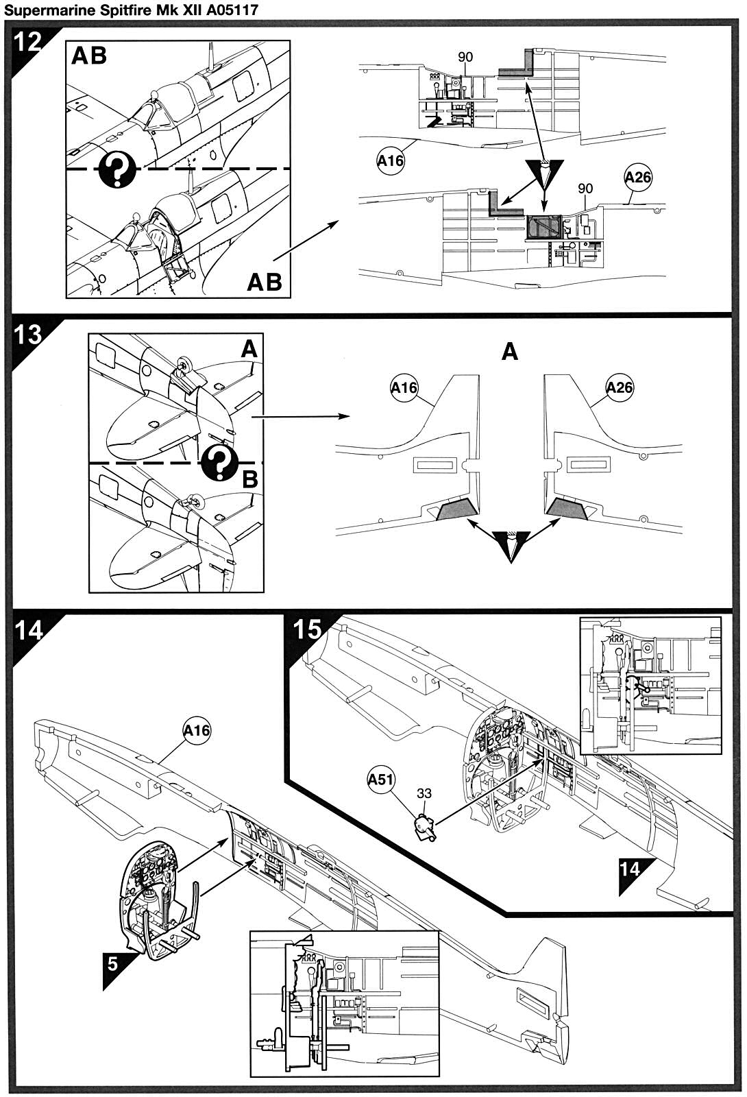 airfix spitfire 1 24 instructions