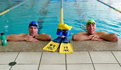 Swimming Buddies, Dale and Jamie