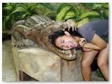 me eaten by a huge crocodile at crocolandia