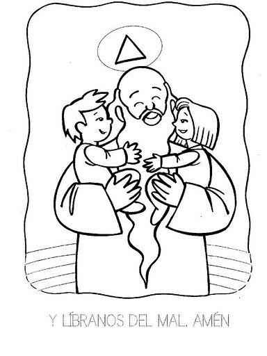 Dibujos Católicos : Imagenes libranos del Mal para colorear