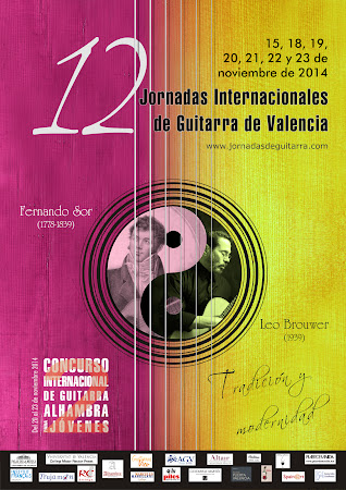 Cartel realizado por Carmina Andrés, para las Jornadas Internacionales de Guitarra de Valencia
