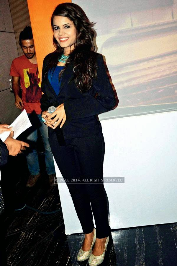 Priyanka Bhalla during the launch of SS Group's upcoming project, Omnia, in Gurgaon.