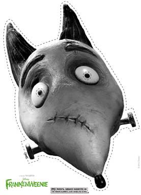 Disney's Frankenweenie - Free Printable Sparky Halloween Mask