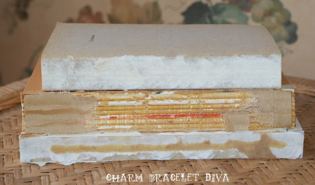 three deconstructed thrifted books decor project shabby chic