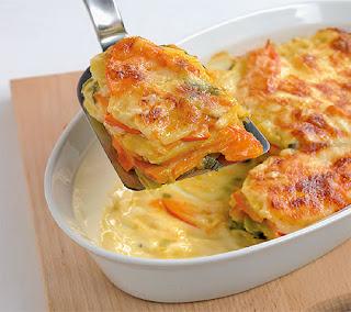 Pumpkin potato leek gratin Recipes