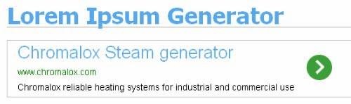 One-Click Lorem Ipsum Generator