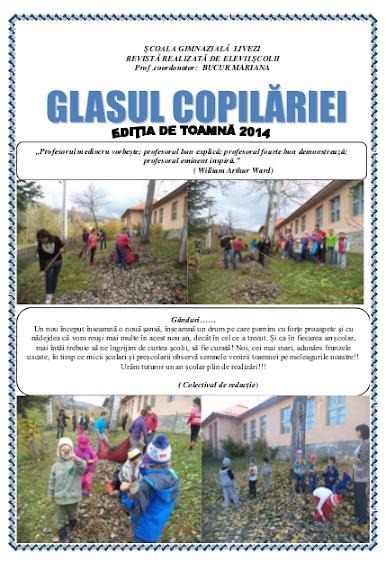 ed5 (ELECTRONIC - revistă scolara) glasul copilariei_ŞCOALA GIMNAZIALĂ_LIVEZI_LIVEZI_HARGHITA
