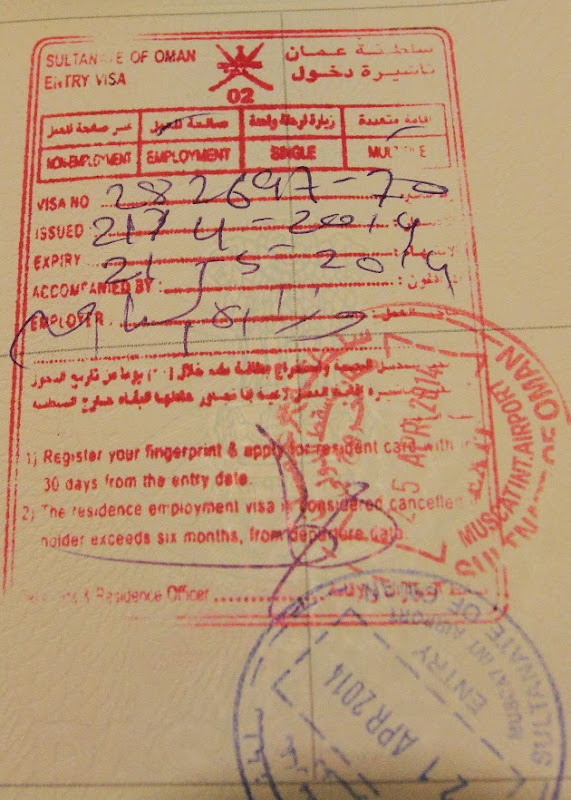 Oman Tourist Visa for Indian Nationals