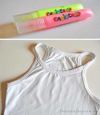 Cómo decorar una camiseta.