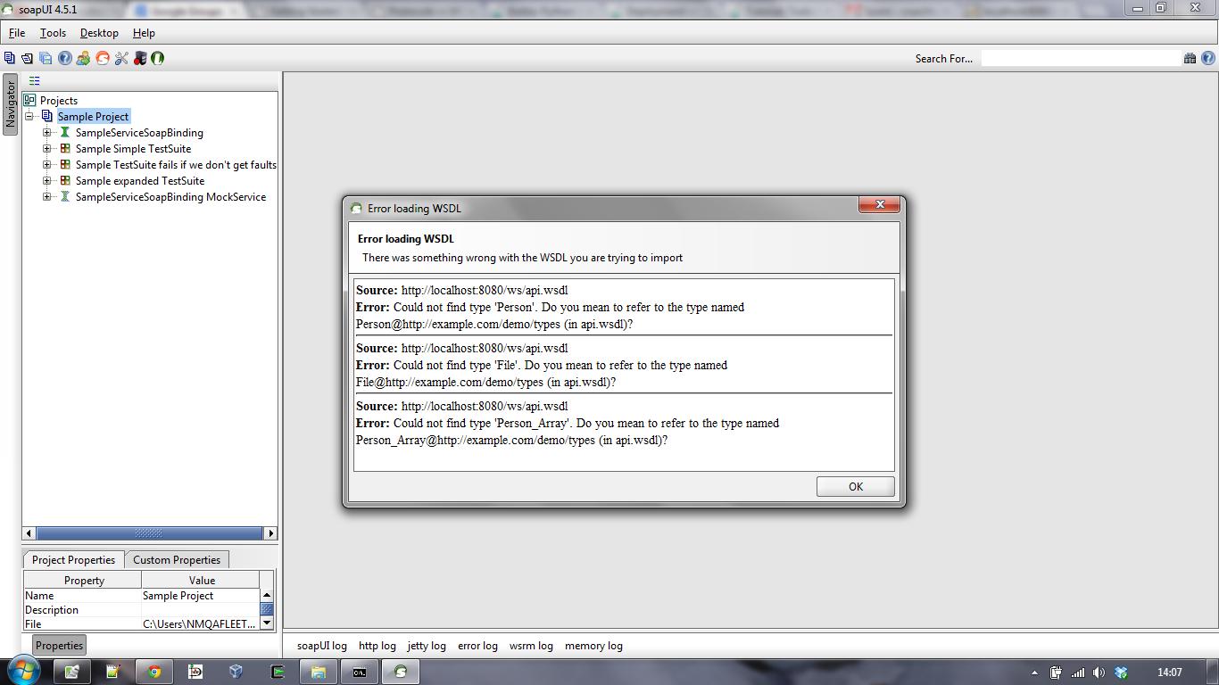 Re: Error loading WSDL - Google Groups