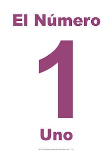 Lámina para imprimir el número uno en color morado