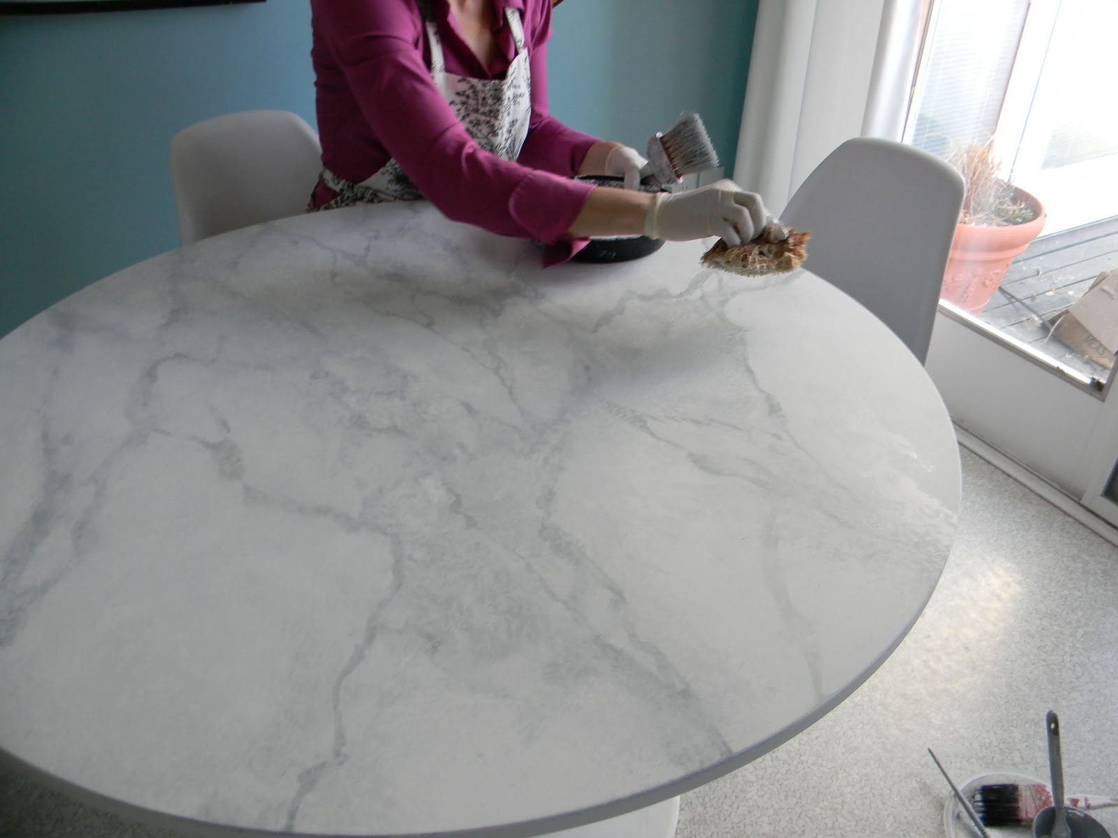 GORGEOUS SHINY THINGS: How To Happy Hour  Faux Carrara Marble + IKEA Hack