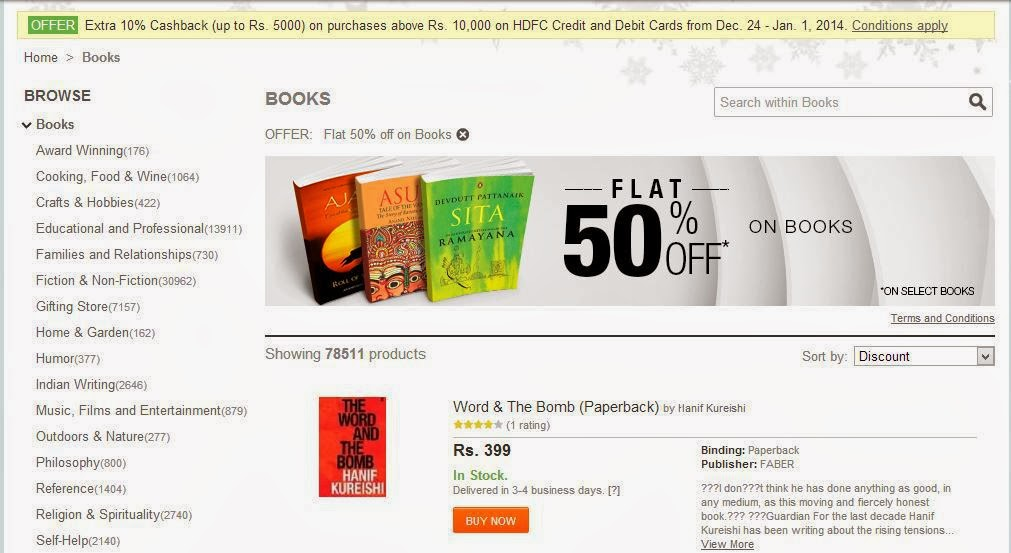 interesting books being offered at 50% discount
