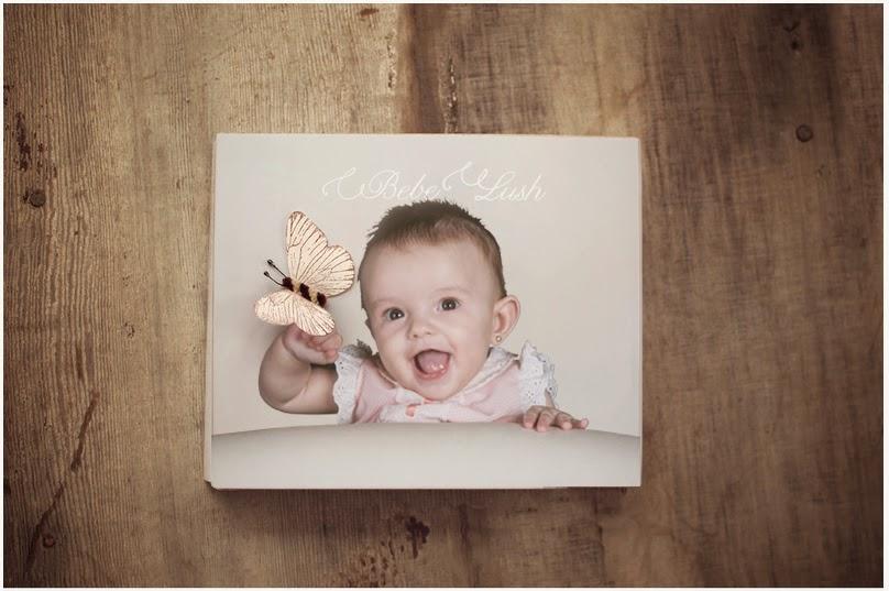 fotografía a un book de bebé original