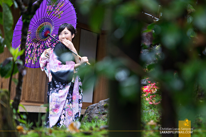 Japanese Woman at Shōgen-ji Temple in Hakone, Japan