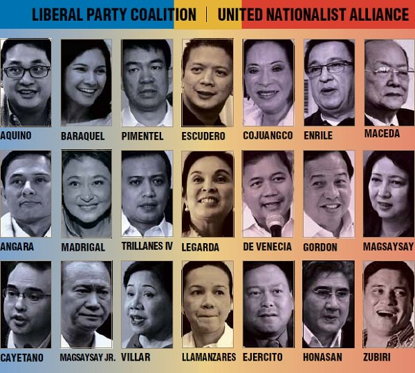 2013 Senatorial Election Candidates Official List