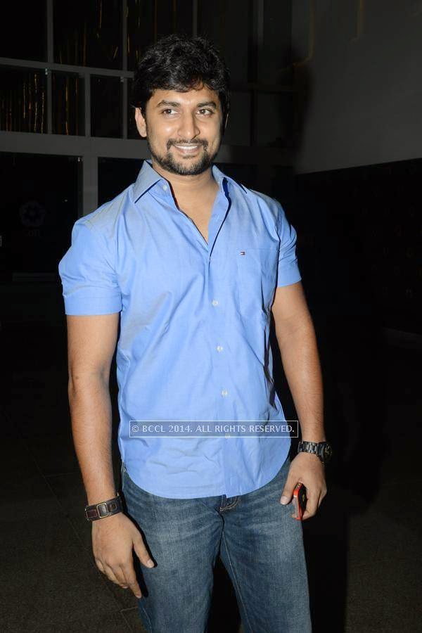 Nani during an event, in Hyderabad.