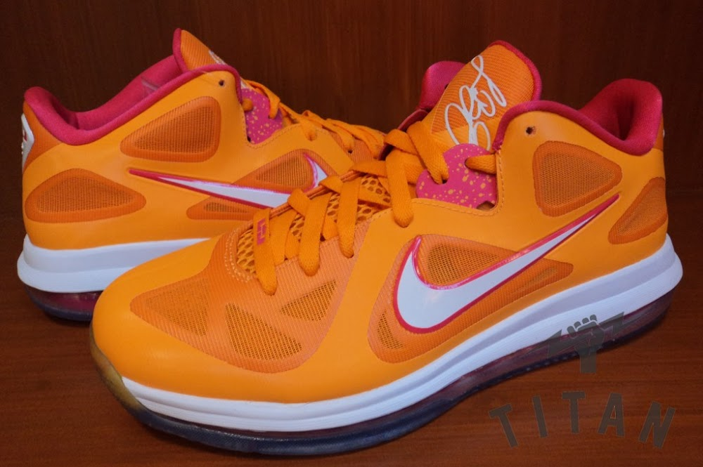 First Look at Nike LeBron 9 Low 8220Vivid Orange amp Cherry8221