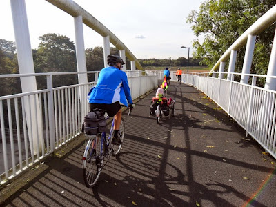 cyclists bridge