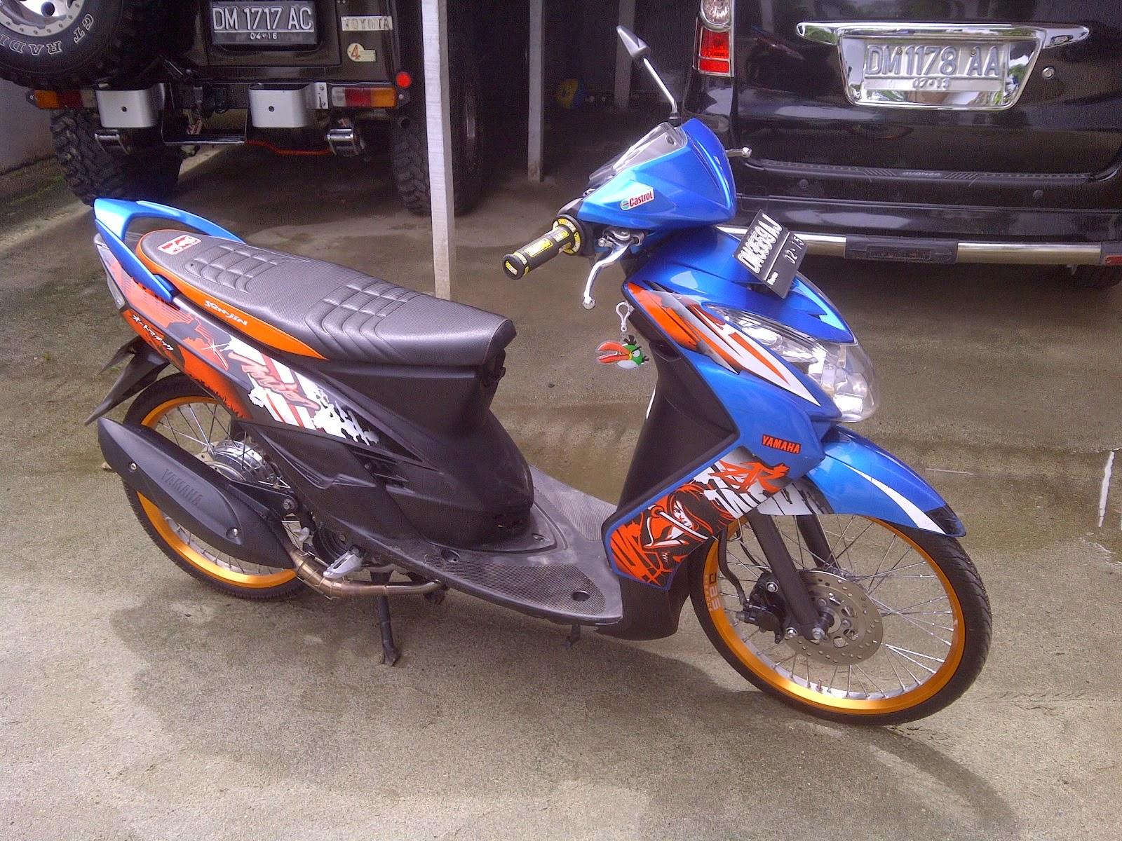 Yamaha Fino Modifikasi Velg 17