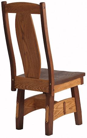 Breton Chair in Pecan and Mahogany Oak