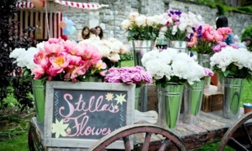 Flower Cart Stella McCartney Fashion Party