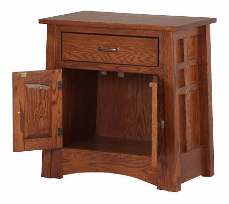 """22"""" x 28"""" x 17"""" Custom Teton Nightstand with Doors, in Pecan Oak"""