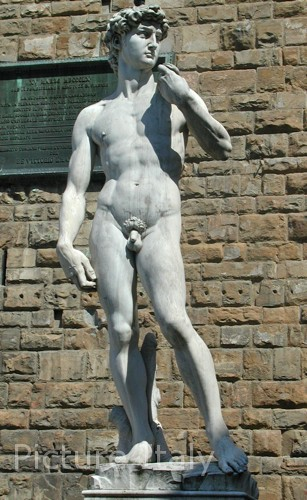 outdoor statue of david replica florence
