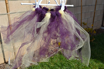Purple and Yellow Princess/Fairy Skirts