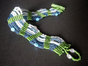 Blue Crush Wavy Bracelet