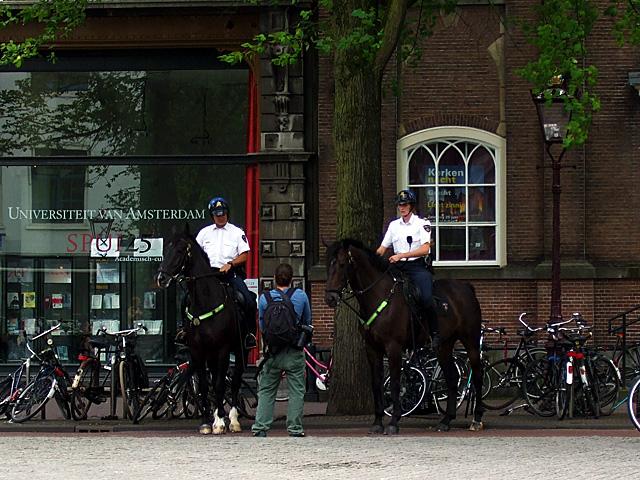 Amsterdam police on horseback