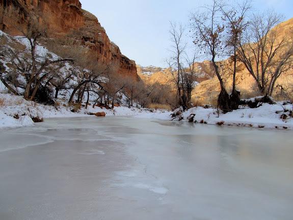 Ice in Horseshoe Canyon