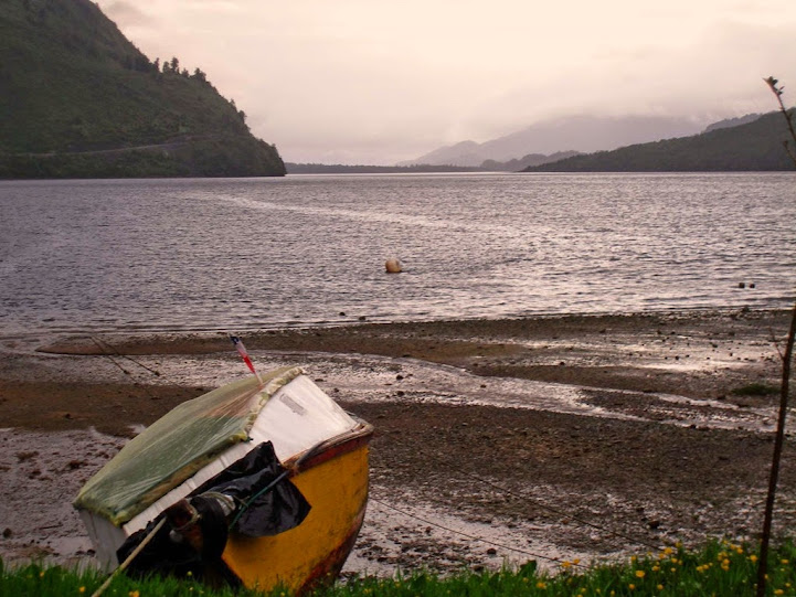 Vistas al canal del fiordo en Puyuhuapi